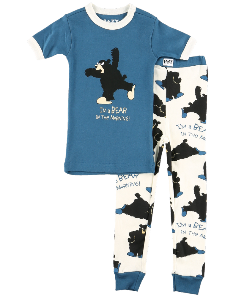 Bear in the Morning - Boys Short Sleeve PJ Set - Lazy One®
